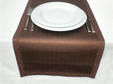 Resim  Leather Table Runner / Artificial Leather Cover